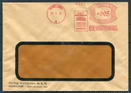 1931 Germany Dusseldorf Eisenhuttenhaus Freistempel Brief - Deutschland
