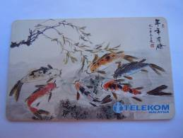 Malaysia Maleisie Telekom Chip Zodiaque Poisson Astrologie Vis Astrology Fish RM 20 Used - Zodiaco