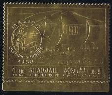 1968  Jeux Olympiques De Mexico  Voile  Timbre Or  Michel  A526A * - Sharjah
