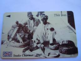 Malaysia Maleisie Uniphone This Was .. Snake Charmer 1947 Slangenbezweerder Charmeur De Serpent Slang $10 Used - Sin Clasificación