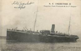PAQUEBOT S.S. IMERETHIE II PAQUEBOT POSTE FRANCAIS DE LA CIE PAQUET - Paquebots