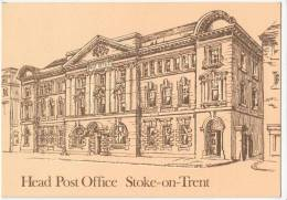 H.P.O. Stoke On Trent, Post Office Monument, Postcard 1981 - Postal Services