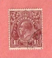 AUS SC #115  1936 King George V CV $15.00 - 1913-36 George V: Heads