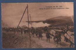 MILITARES - CP CAMPAÑA DEL RIF 1921 - CONVOY DE MATERIAL DE GUERRA DIRIGIENDOSE A NADOR - Otras Guerras