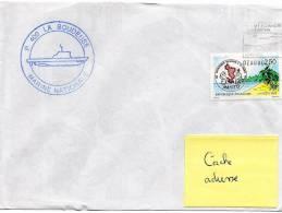 Patrouilleur LA BOUDEUSE - Flamme Mécanique (icomplète) DZAOUDZI (Mayotte) Sur TP France MAYOTTE - Postmark Collection (Covers)