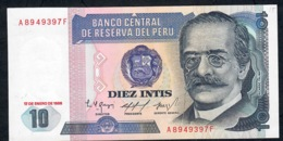 PERU   P128   10  INTIS   17.1.1986     UNC. - Perú
