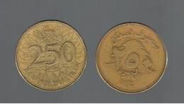 LIBANO - LEBANON - Rep. -   250  Livres  1996   KM36 - Líbano