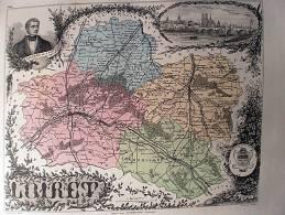LOIRET  CARTE ATLAS XIXEME DE VUILLEMIN - Carte Geographique