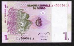 CONGO  D.R. P80 1 CENTIME 1997 #A/A      UNC. - Sin Clasificación