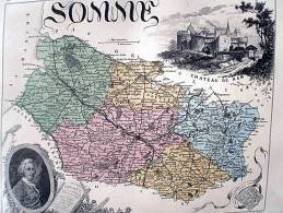 SOMME   CARTE ATLAS XIXEME DE VUILLEMIN - Cartes Géographiques