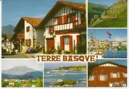 Carte Postale Photos Couleur TERRE BASQUE- 2009 Sare,La Rhune, St-Jean De Luz, Espelette, Biarritz. - Saint Jean De Luz