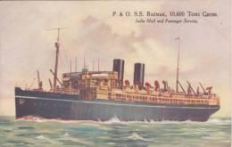 P&O Line RAZMAK (Charles Dixon?) Artwork Official Company Issue Ship Postcard - Piroscafi