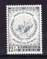 BELGIUM   1958 ,Human Rights Declaration- 10 Th Anniv.   , Y&T  #  1089  , Cv  0,50  E ,  ** M N H , V V F - Belgio