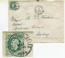 Gosselies-Courcelles 3 Mai 1884 Nr 10 Vers Charleroi - 1869-1883 Léopold II