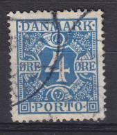 Denmark Porto Postage Due 1925 Mi. 10     4 Ø Ziffern Und Vier Kronen, Glatter Grund - Port Dû (Taxe)