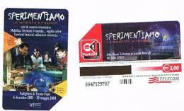 TELECOM ITALIA - C.& C. F3837 - 2003 TRENTO, SPERIMENTIAMO LA SCIENZA         -  USATA - Public Special Or Commemorative