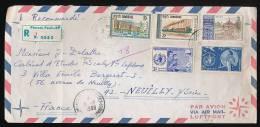 CAMBODGE, Enveloppe Juillet 1968, Recommandé Phom Penh Par Avion Pour Neuillly, Cachets, Timbres Santé, Universités, OMS - Cambodia