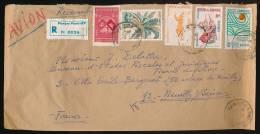 CAMBODGE, Enveloppe Février 1968, Recommandé Phom Penh Par Avion Pour Neuillly, Cachets, Timbres, Arbre, Ballets, UNESCO - Cambodia