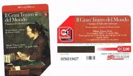 TELECOM ITALIA - C.& C. F3858 - MILANO 2003: IL GRAN TEATRO DEL MONDO       -  USATA   - RIF. CP - Public Special Or Commemorative