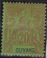 Guyane  N°36*neuf  Avec Charniere