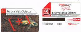 TELECOM ITALIA - C.& C. F4004   -  GENOVA 2004:  FESTIVAL SCIENZA    -  USATA - Public Special Or Commemorative