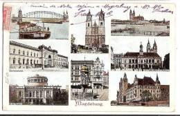 CPA Magdeburg  Multivues Multi Vues Saxe Anhalt Allemagne Deutschland - Magdeburg