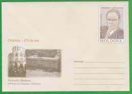 MOLDOVA ; MOLDAVIE ; MOLDAWIEN ; MOLDAU ; 2011 ; Pre-paid Envelope.  Chisinau-575 Years. V.Mednec-Architect. - Moldova