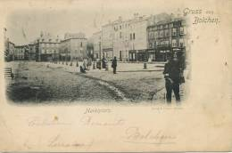 Gruss Aus Bolchen Boulay Marktplatz Edit E. Stenger Envoi A Ploesti Roumanie 1900 - Boulay Moselle