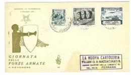 ITALIA REPUBBLICA - FDC VENETIA - ANNO 1952  RARA - GIORNATA DELLE FORZE ARMATE - PRESENZA DI MACCHIE IN BASSO A DESTRA - 6. 1946-.. Repubblica