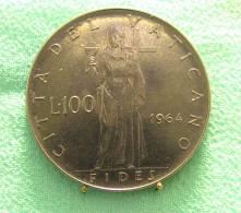 Vatican PAPAL  PAUL VI 100  LIRE FDC   1964 RARE - Vatican
