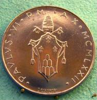 Vatican PAPAL  PAUL VI 100  LIRE FDC   1972   RARE - Vatican