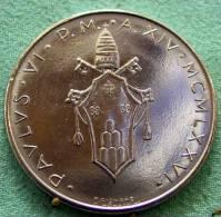 Vatican PAPAL  PAUL VI 100  LIRE FDC   1975 ANNO SANTO    RARE - Vatican
