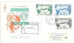 Filatelia - FDC - FIRST DAY COVER - ITALIA REPUBBLICA - ITALY - SERIE GRONCHI  RACCOMANDATA  ANNO 1961 VENETIA - 6. 1946-.. Repubblica
