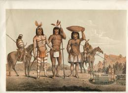 Navajo,Auers Faust,Indians ,ca 1850 Lithography Depicting Indianer- Stamme Amerika´s, Size App.12.6x9.8 In.colourprint, - Lithografieën