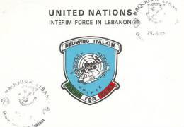 A349- MISSIONI MILITARI DI PACE - ONU MISSIONS - UNITED NATIONS - NAQOURA LIBANO - UNIFIL - ITALAIR - 6. 1946-.. Repubblica