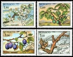 MONACO - 1990 - Arbres, Fleurs- 4 Saisons Du Prunier - 4v Neufs // Mnh - Monaco