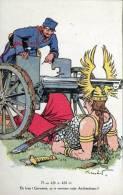 CPA /GUERRE 14/18-ILLUSTRATEUR  KOISTER/ET BIEN GERMANIA CA TE RENVERSE CETTE ARITHMETIQUE..... ECRITE ‹(•¿• )› - Guerra 1914-18