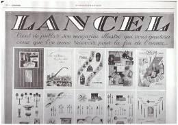 Pub Publicité LANCEL    13 Boulevard Des Italiens Paris - Advertising