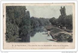 Le Tour De Marne - Vue Prise Du Pont De Champigny. Berge De La Rive Droite - Champigny-sur-Marne, éd. B.F. N° 36, 1919 - Champigny