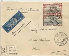 LETTRE POUR PARIS  . AIR MAIL + RECOMMANDE - Poste Aérienne