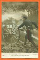 Carte Fantaisie - Militaire - Bon Courage Ami , La France Est Fiere De Toi  - Canon De 75 - War 1914-18