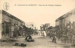 DJIBOUTI - Souvenir De Djibouti - Une Rue Du Village Indigène - Gibuti