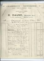Seine Maritime.Charpente Menuiserie R Daune à Sanvic - France