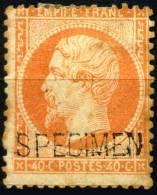 Frankreich SPECIMEN Empire Dentel ,Maury N° 5 * 40 Centime En Orange, Les 4 De 40 Avec 2 Différent En A Cuit 4 ; - Specimen