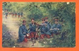 """Groupe De Militaires  - La Mitrailleuse  """" - Regiments"""