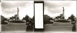 Plaque Stereo Verviers Monument De La Victoire - Plaques De Verre