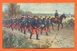 Militaires En Campagne - Carte  Illustrateur - Regiments