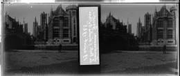 Plaque Stereo Gand La Poste Saint Nicolas Le Beffroi - Plaques De Verre