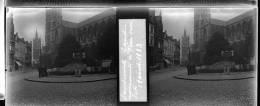 Plaque Stereo Gand Monument Van Eyck - Glasplaten