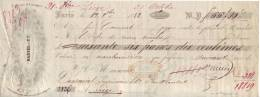 Mandat De 1852 - PARIS - DANIEL Et Cie - Editeurd D´Estampes - Commissions Pour Tous Les Artciles Religieux - Letras De Cambio